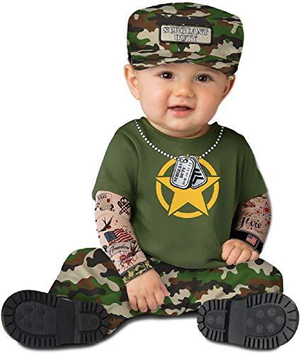 Mädchen Armee Soldat Militär Cute Camo Halloween Karneval Kostüm Outfit 0-24 Monate ()