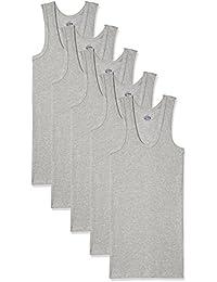 Dollar Bigboss Men's Cotton Vest (Pack Of 5) (8902889480756_MDVE-02-BB-DERBY-GREY MELANGE_95_Grey Melange)