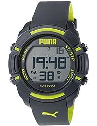 Puma Laptoptasche Bytes Unisex-Armbanduhr Digital-Anzeige und Schwarz PU Strap PU911221003