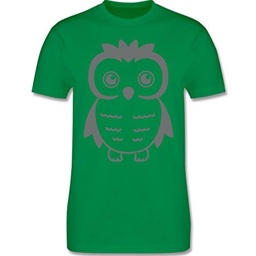 Eulen, Füchse & Co. - Eule - Herren Premium T-Shirt Grün
