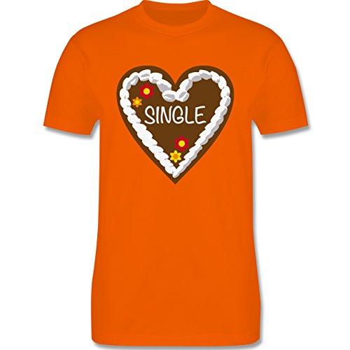 Oktoberfest Herren - Lebkuchenherz Single - Herren Premium T-Shirt Orange