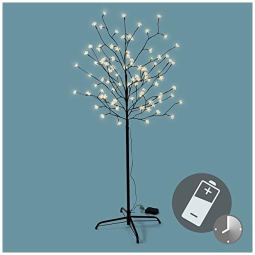 Weihnachtsbeleuchtung Led Baum.96 Led Baum Mit Blüten Blütenbaum Lichterbaum Warm Weiß 150 Cm Batterie Timer Weihnachtsbeleuchtung Außenbeleuchtung Ip44 Xmas Gartendeko