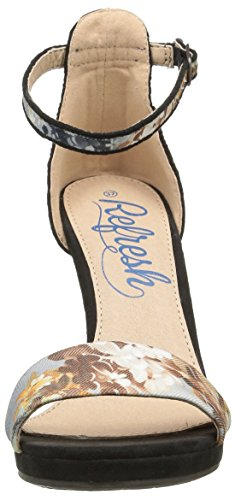 Refresh 61709 - Sandali con Tacco Donna Nero (Black (nero))