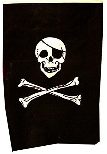 Zauberparty - Party Dekoration- Piraten Fahnen Totenkopf Geburtstag 1 Stk., 40 x 60cm, Schwarz (Besen Hexe Flamme)