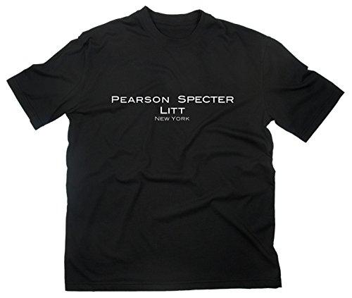 Suits Fan T-Shirt Fanshirt Logo TV-Serie Anwaltskanzlei, XL, schwarz (Fan Suit)
