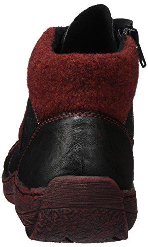 Remonte D3871, Sneakers Hautes Femme Noir (Schwarz/Schwarz/Wine/Bordeaux / 02)