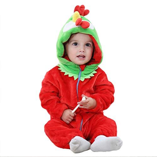 (Tsingbei Baby Kleinkinder Animal Kostüm Halloween Party Jumpsuit Winter Strampler Bekleidung Tierkomstüme)