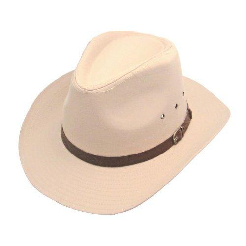 Top Brand Chapeau de cowboy style Stetson à large bord Coton Blanc 57 cm Taille S