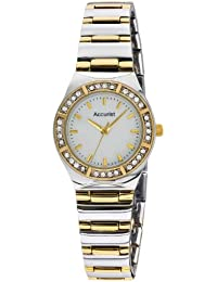 Accurist Women's Quartz Watch with Mother of Pearl Dial Analogue Display and Two Tone Stainless Steel Bracelet LB1761P