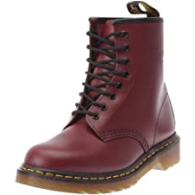 49612f4c55dd Dr. Martens 1460 Unisexe en Cuir Souple Rouge Cerise 8 Oeillets Chaussures  à Lacets