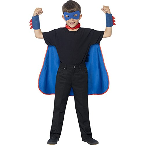 Kinderumhang Comic Held - blau - mit Umhang, -