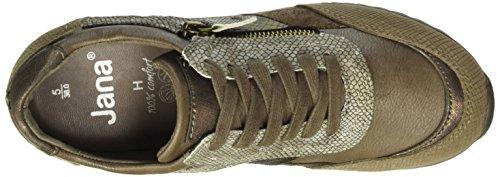 Jana 23701, Scarpe da Ginnastica Basse Donna Marrone (Taupe Comb 349)
