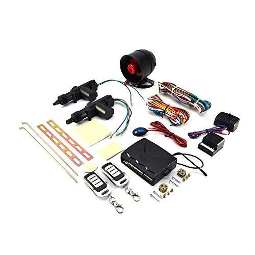 Auto Alarmanlagen,Auto-Diebstahlwarnanlage Universal Fahrzeug Fernbedienung Zentralverriegelung Keyless Entry System 2 Autotür-Fernbedienungs-Zentralverriegelungssatz + Diebstahlwarngerät-Werkzeugsatz Universal-keyless-entry -