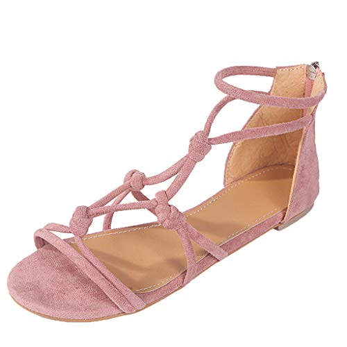 REALIKE Damen Sandalen Sommerschuhe Hohl Plattformen Reißverschluss Roma Schuhe Elegant Schuhe Knöchel Schnalle Peep Toe, Frauen Strandsandalen Bequem Touch Freizeitschuhe