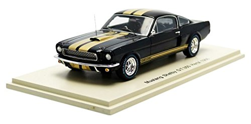 spark-s2637-ford-mustang-shelby-gt350-hertz-1966-1-43-noir-or