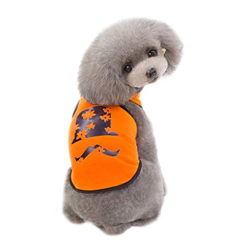 HoSayLike Haustier Hund Modisch Freizeit Sommer Kleidungs Soft Cotton Hemd Rock Druckennettes Haustier Welpen Niedlicher Baumwoll T-Shirt Weste Kleidungs Hemd Hundebekleidung -