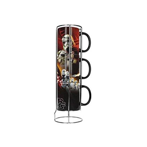 SD Toys Star Wars Set de Tasses, céramique, Noir, 12 cm
