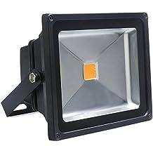 Auralum Faro Faretto da Esterno, 50W IP65 230V a LED Bianco Caldo Floodlight Proiettore Esterno Impermeabile per Illuminazione e Abbellimento in casa, giardino, hotel, paesaggio ecc