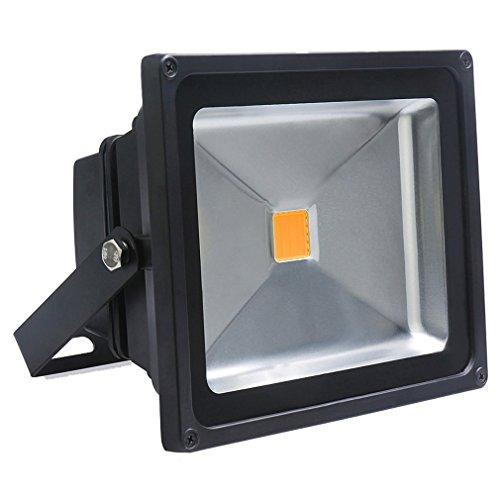Réduction pour Prime Day: Auralum® 10W/30W/50W Super brilliant 50W 230V IP65 Waterproof Noir Blanc Chaud LED Projecteur de lumière d'inondation