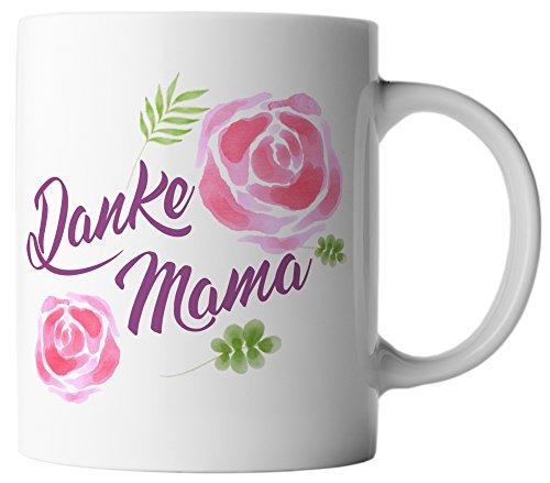 vanVerden Tasse Danke Mama Muttertag Geschenk Mutter Present inkl Geschenkkarte, Farbe:Weiß/Bunt
