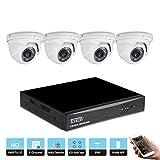 Tonton 8CH 1080P Outdoor Video Überwachungsset mit 4 X Full HD CCTV Outdoor 1080P Video Überwachungskamera Außen Wasserdicht Kamera …