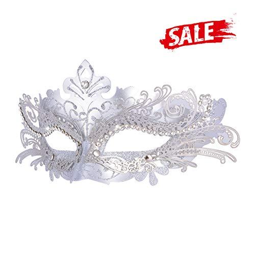 Hoshin Maskerade Maske, Karneval Dekorationen Venezianische Masken für Frauen(Silber)