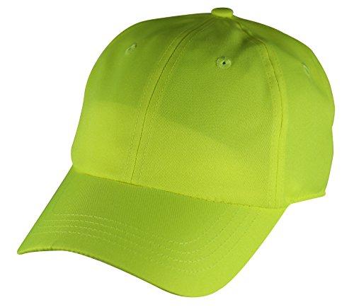 Basic Neon cap Baseball Caps Stitched eyelets Verstellbar 761 (GELB)