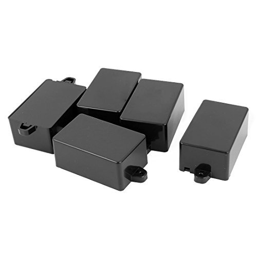 DealMux 5Pcs 82mm x 52mm x 35mm Surface Mounted Sealed Electric Junction Box Black Surface Mounted Box