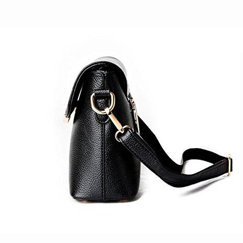 Mode Schultertasche Mutterbeutel Kuriertasche Lederhandtasche Der Frauen Black