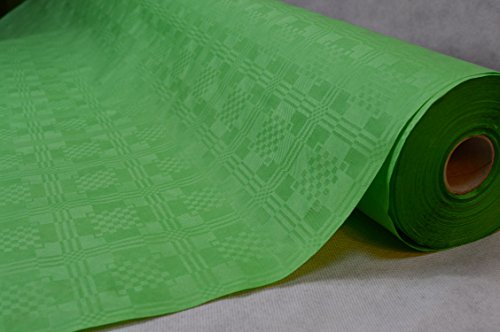 50 Meter Lang 100 Cm Breit Farbe: Oliv Tischdecke Papier Damastprägung Tischtuch Papierttischdecke...