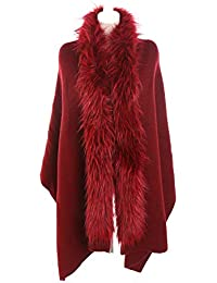 264202b9512 Mujer Niña Color Sólido Extra Largo Extra Grueso pelo sintético Collar  Bufanda Wrap Chales Estolas de