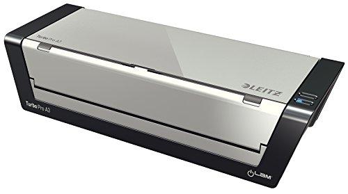 Leitz A3 Laminiergerät, Touch Turbo Pro, Ideal für Büro und Schule, Silber, iLam, 75190000