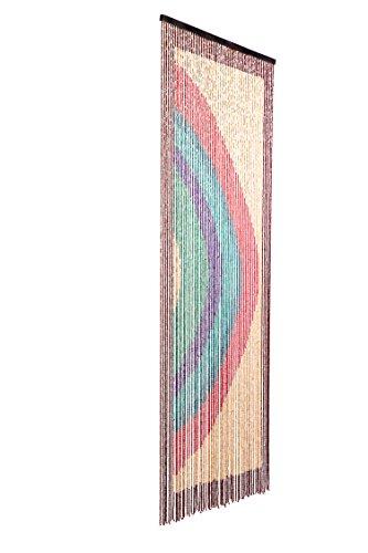 Catral 71060019 Cortina Rainbow L60, Madera, Rojo, Verde y Azul, 200 x 90 cm