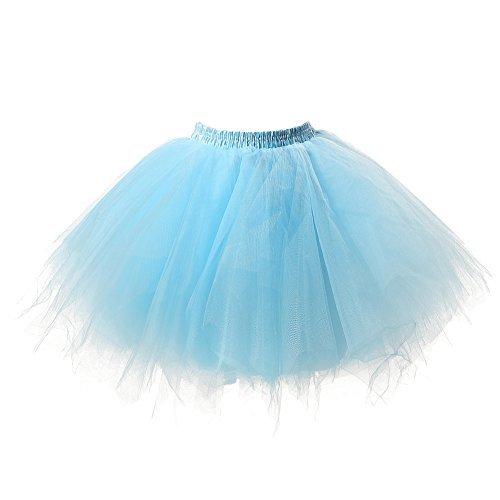 Honeystore Damen\'s Tutu Unterkleid Rock Abschlussball Abend Gelegenheit Zubehör Blau