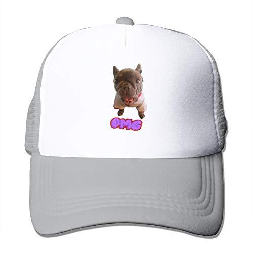 OMG!French Bulldog Men Women Sports Hat Cap Golf Cap Running Tennis Cap Kind Pink Dragon Girl