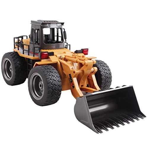 RC Auto kaufen Baufahrzeug Bild 6: deAO RC Radlader mit LED Beleuchtung und Sounds Radio Kontrollierter Baustellen LKW inklusive wieder ladbare Batterien mit lade Station*