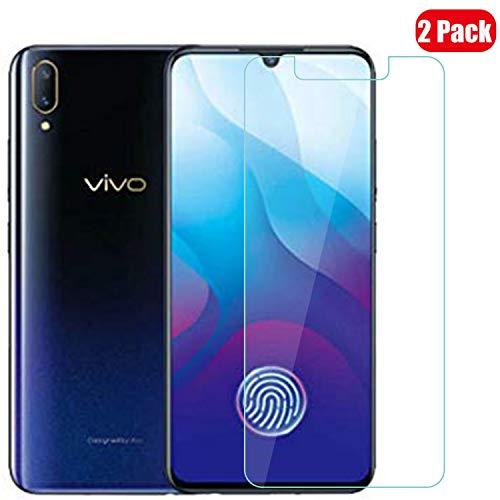 Voviqi Vivo V11 Panzerglas, 9H verbesserte gehärtetes Glas Folie [Blasenfrei] [Anti-Fingerabdruck] Bildschirmschutzfolie für Vivo V11, 2 Stück