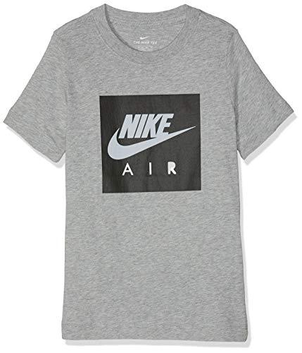 best sneakers 5770f 9eabc Nike Jungen B NSW Tee AIR Box T-Shirt dk Grey Heather Black M