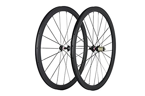 WINDBREAK BIKE 38mm Carbon Wheelset 25mm Width Clincher Road bike Wheel with Novatec Hub