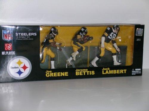 McFarlane NFL Pittsburgh Steelers Legends 3-Pack: Lambert, Bettis & Greene (Steelers Mcfarlane)