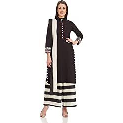 Biba Women's Straight Salwar Suit (SKD4792_Black_42)