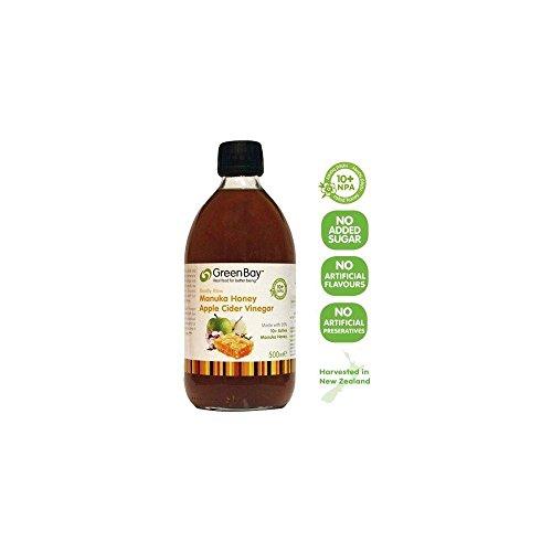 Green Bay récolte cidre de pomme biologique de vinaigre avec 10+ Miel de Manuka (500ml) - Paquet de 2