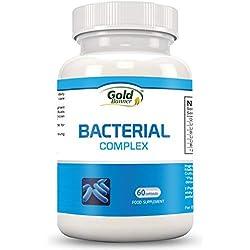 Bakterieller-Ergänzungsmittel - Fortgeschrittener Bakterieller-Komplex Fördert die Darmflora - 60 einmal täglich einzunehmende vegetarische Kapseln - Verbessert die Funktion des Immunsystems, die Darmgesundheit & die Verdauung