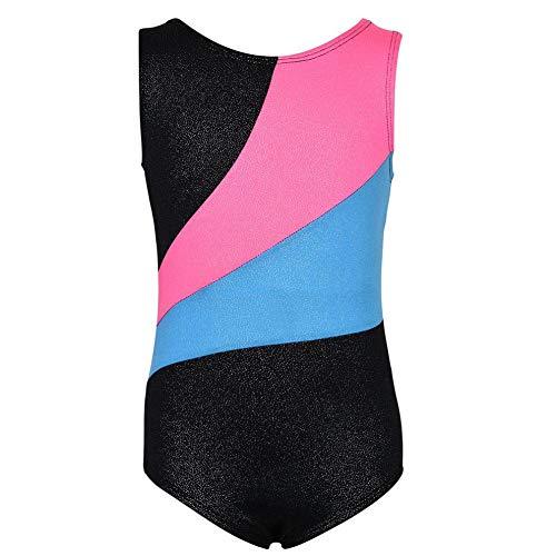 Mädchen Gymnastik Sleeveless Sparkle Farbverlauf Trikots für Kinder Teens Frauen Dancewear