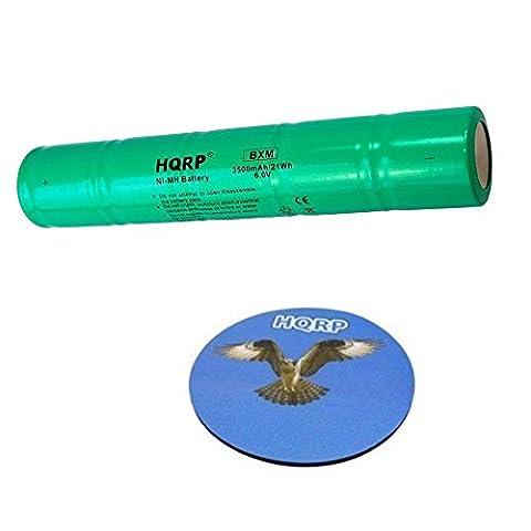 HQRP Batterie de longue durée 3500mAh pour STREAMLIGHT SL-20 / SL-20S / SL-20X, MINI STINGER 200394 / 20X1701 Remplacement