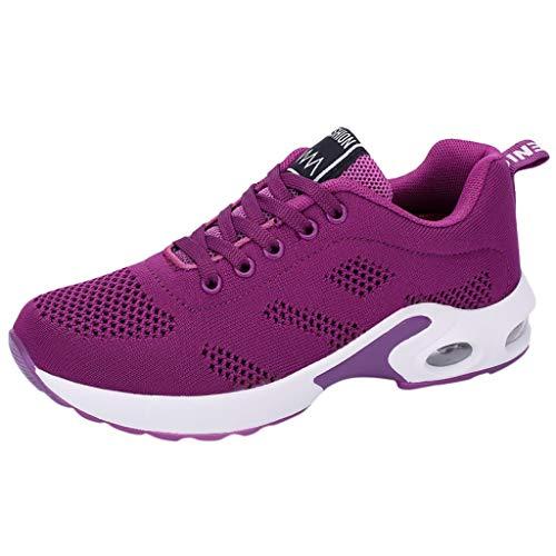 BaZhaHei Scarpe a Rete Sneakers Donna,Student Respirabile Scarpe Basse Sportivo Donne Leggere Scarpe da Corsa Casual Scarpe da Lavoro Running Fitness Shoes con Sportive All'aperto 35-40