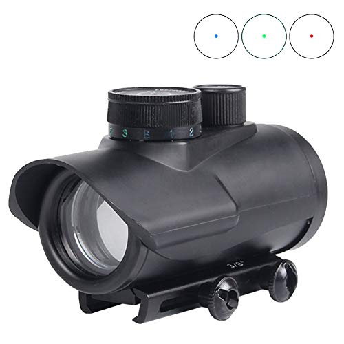 Red Dot Sight Scope Grün Blau Reflex Holographic Rifle Optics Taktische mit 11mm / 20mm Picatinny Weaver Schiene für Airsoft (Airsoft Gun Sight Red Dot)