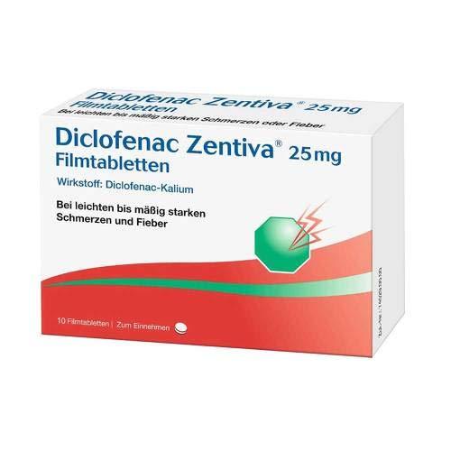 Diclofenac Zentiva 25 mg, 10 St Filmtabletten