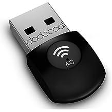 dodocool Adaptador USB inalámbrico Dual Band AC600 Wifi 2.4GHz 150Mbps o 5Ghz 433Mbps compatible con Windows XP/7/8/8.1/Mac OS X