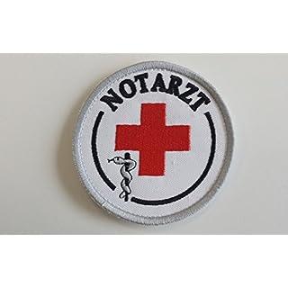 Notarzt-Abzeichen (Durchmesser ca 8,5cm), zum Aufkletten